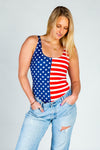 The Betsy Crotch USA Body Suit
