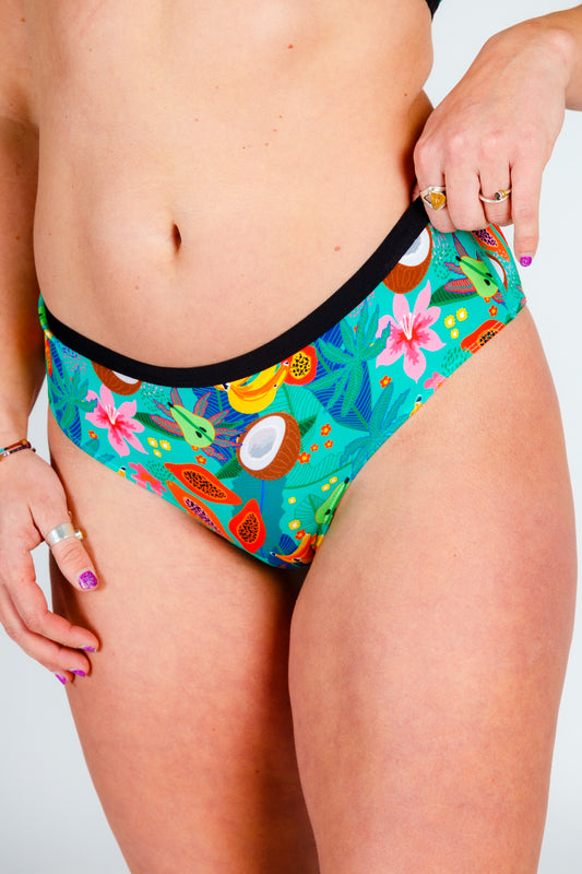 cheeky fruit salad printed underwear