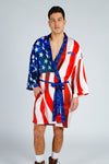 red white and blue kimono