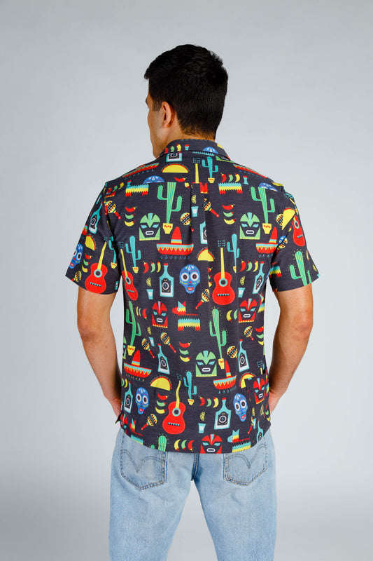 back of cinco de mayo stretch hawaiian shirt
