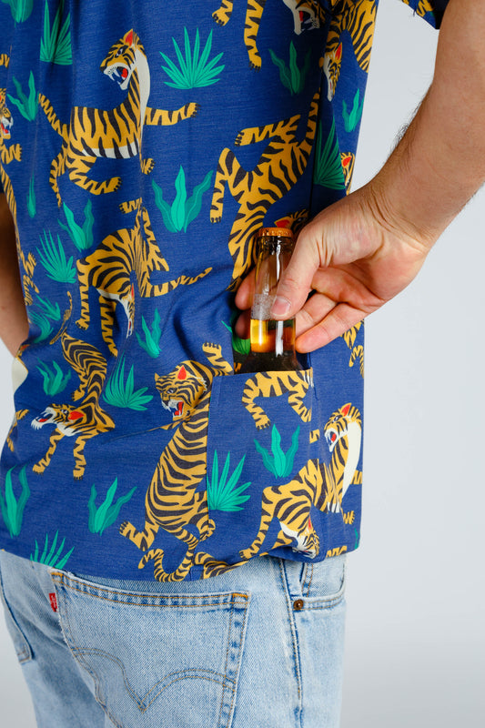 The Crouching Tiger | Tropical Tiger Stretch Hawaiian Shirt