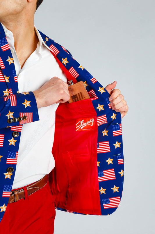 men's 4th of july blazer