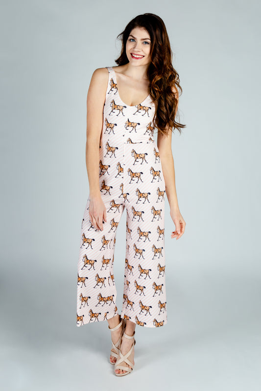 striped horse jumpsuit for women