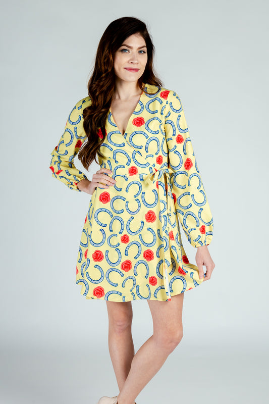 long sleeve horseshoe dress