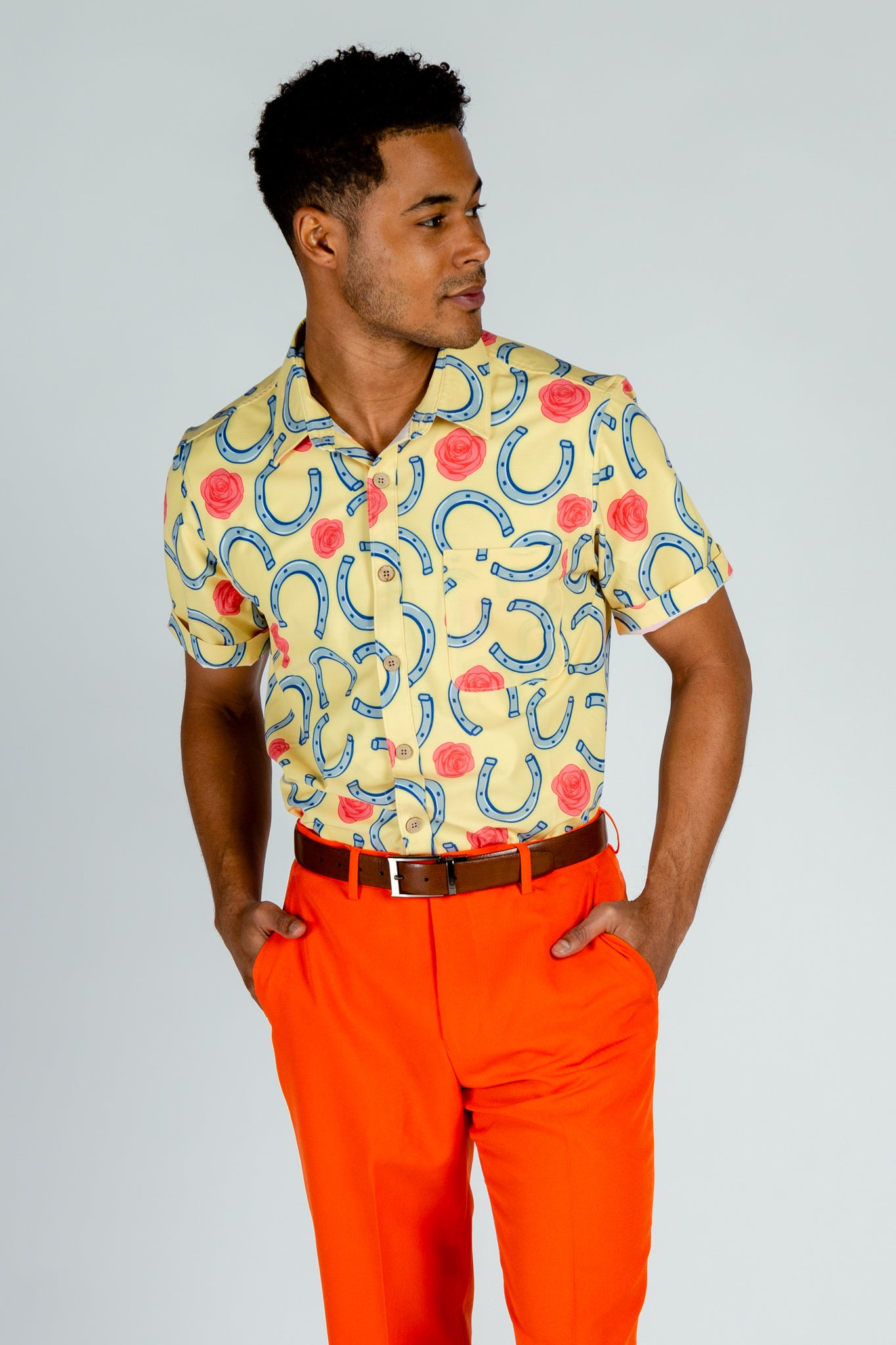 Vintage Button Up Shirts For Men by Shinesty