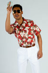 red and white roses hawaiian shirt