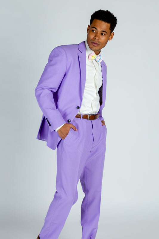 pastel purple suit
