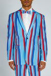 striped usa blazer