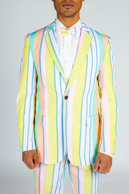 yellow striped party blazer
