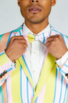 Pastel striped bow tie