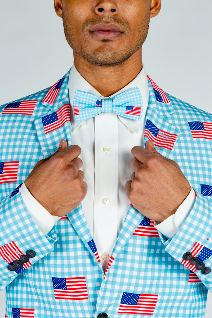 The I Like It In Hyannis | USA Gingham Bow Tie