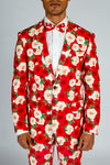 red floral party blazer