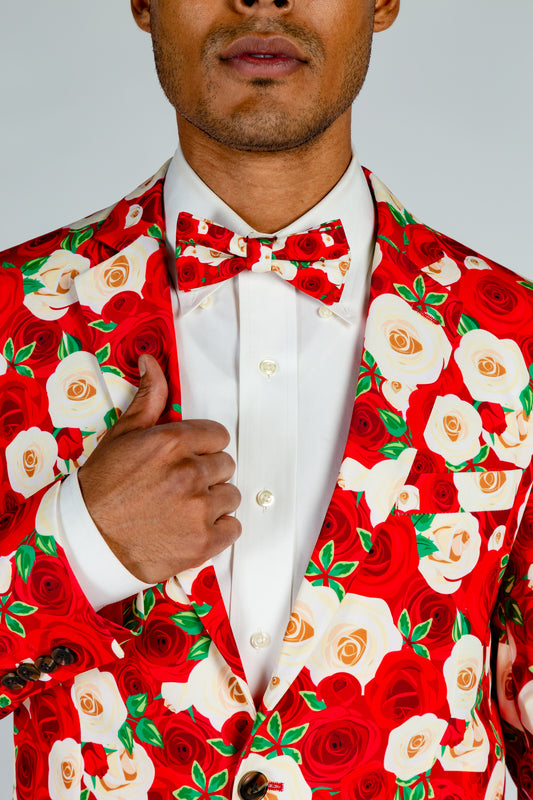 red roses derby suit jacket