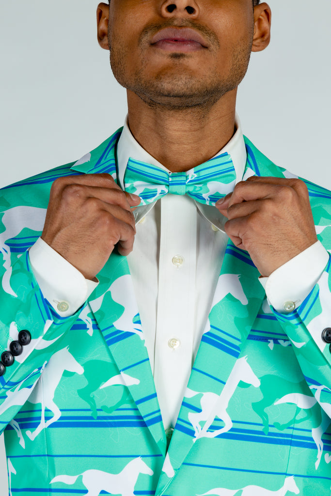 The Foal Throttle |Turquoise Derby Bow Tie