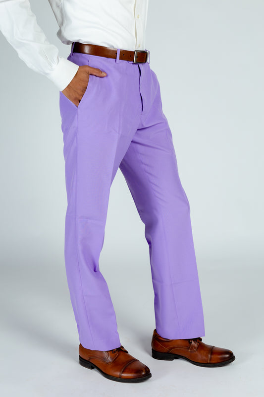pastel purple suit pants