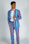 Striped derby suit