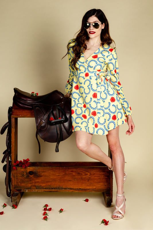 The Derby Delight Wrap Dress