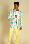 yellow pastel derby suit