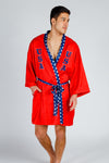 patriotic boxing kimono for men