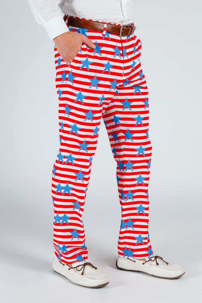 The Nautical Lad | USA Big Knit Printed Party Pants