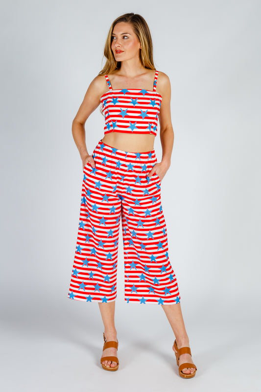 Women's usa crop set