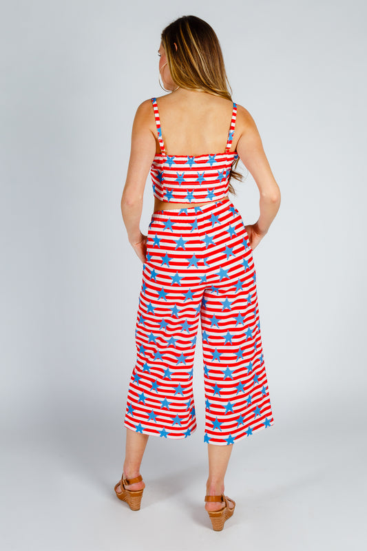 Gals red white and blue 2 piece outfit