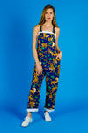womens tiger print overalls