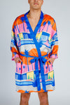 palm tree printed robe
