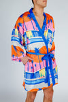 tropical silky kimono for men