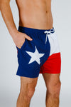 Texas Flag Swimmin Trunks