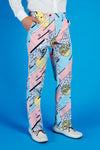 men's 80's suit pants