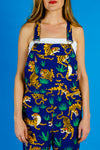 The Tiger Styles | Ladies Unisex Tiger Print Overalls