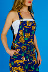 tiger stripe overalls for women