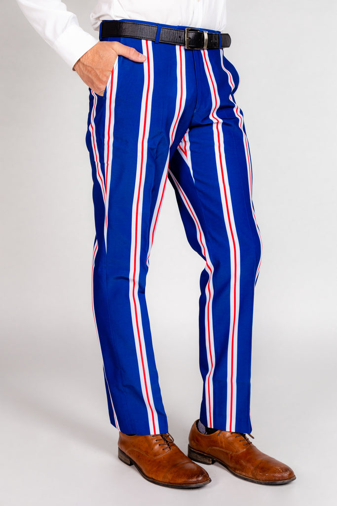 The Trust Funder | Striped Suit Pants