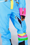 The Bluebird | Mens Bright Teal Retro 80s Ski Suit | Pre-Order | Ships in December 2020