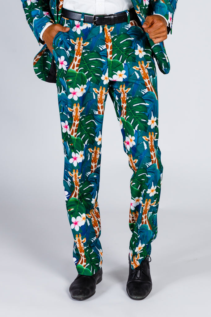 The Giraffe Gentleman | Tropical Hawaiian Party Pants