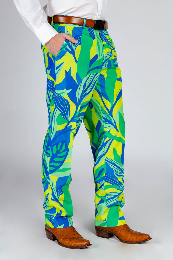 The Rum & Sprite | Neon Leaves Suit Pants