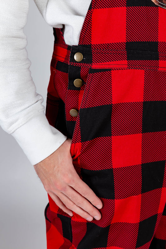 The Bear Necessities | Buffalo Check Plaid Overalls