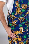 The Tiger Style | Men's Jungle Tiger Print Overalls