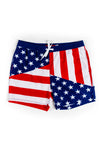 American Flag Eagle Pocket USA Swim Trunks