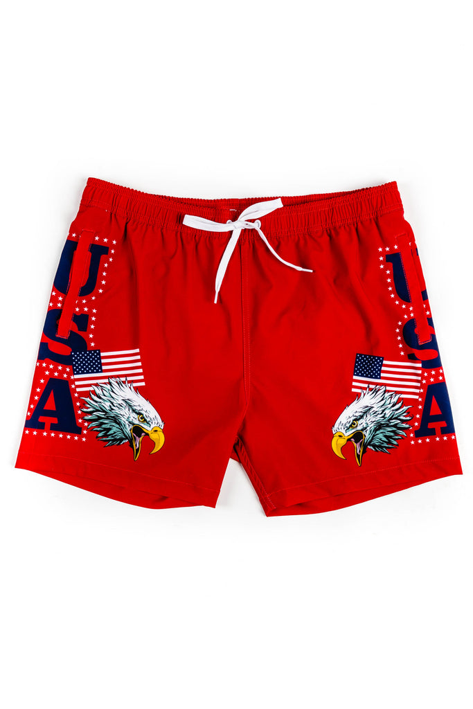 The Freedom Chickens | USA Eagle Swim Trunks
