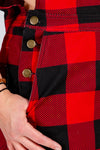 The Bear Necessities | Ladies Unisex Buffalo Check Plaid Overalls