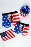father and son matching american flag eagle ball pouch underwear