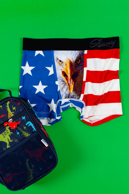The Mascot Jr. | American Flag Boxer Brief For Boys