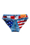 USA denim swim brief