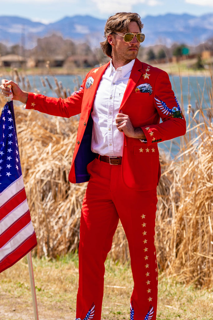 The Sunday Best | Western Style Red USA Blazer