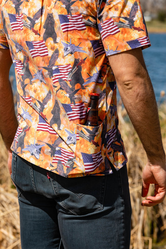drink pocket hawaiian shirt