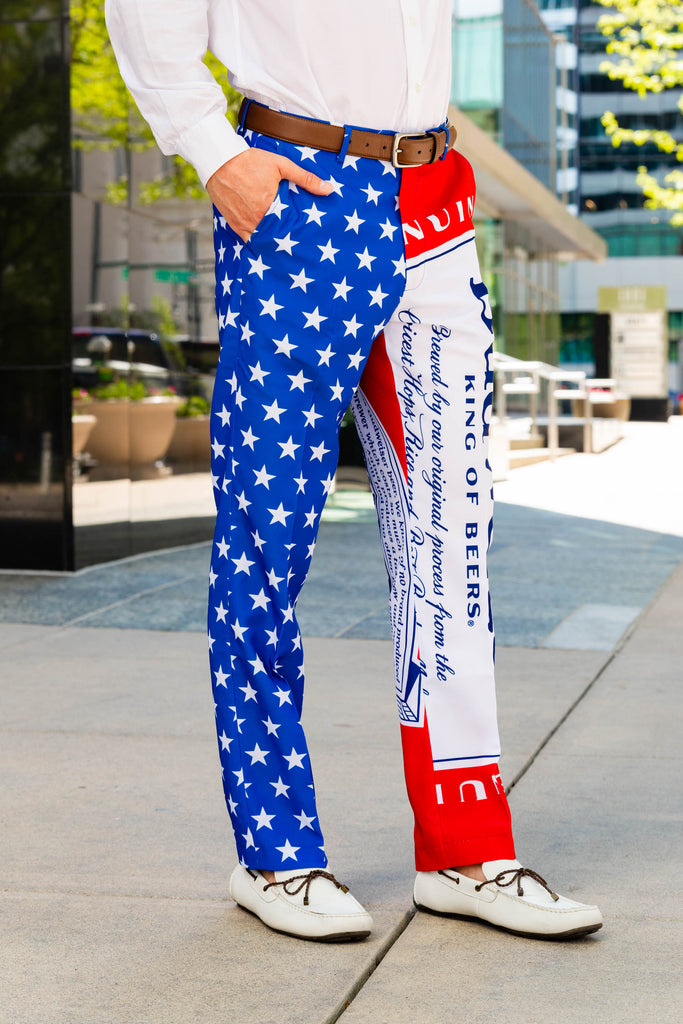 Cool, Smooth and Refreshing | USA Budweiser Suit Pants