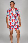 USA Budweiser Short Sleeve Party Suit
