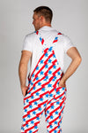 Stars and stripes men's pajama overalls